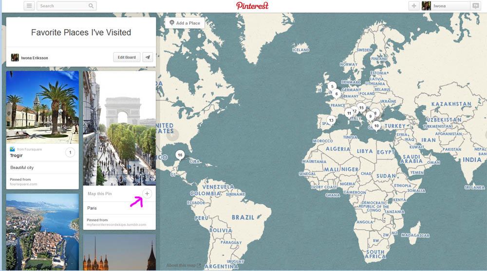Pinterest mapa