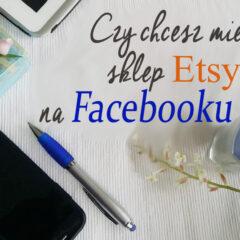 Sklep Etsy na Facebooku